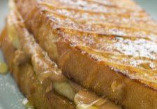 Peanut Butter & Banana Toast Sandwiches