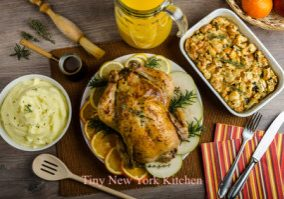Buttermilk Garlic Brined Roast Chicken