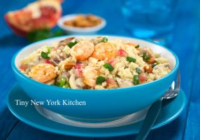 Spicy Mediterranean Shrimp Sauté Couscous