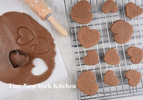 Cookie Dough with heart shapes