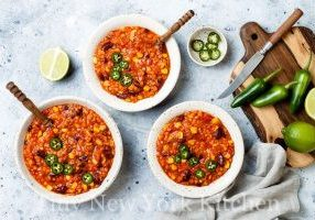 Vegetarian Red Lentil Chili
