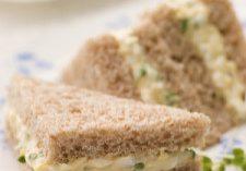 Watercress & Egg Salad Tea Sandwiches