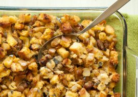 Whiskey Sausage Apple Stuffing