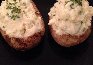 Yogurt Twice Baked Potatoes