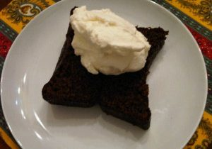 Gingerbread with Whipping Cream